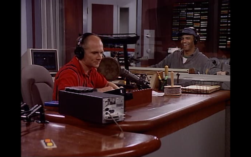 Bulldog and Pete in the recording booth at KACL