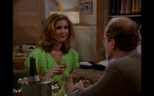 Roz and Frasier have a heart to heart.